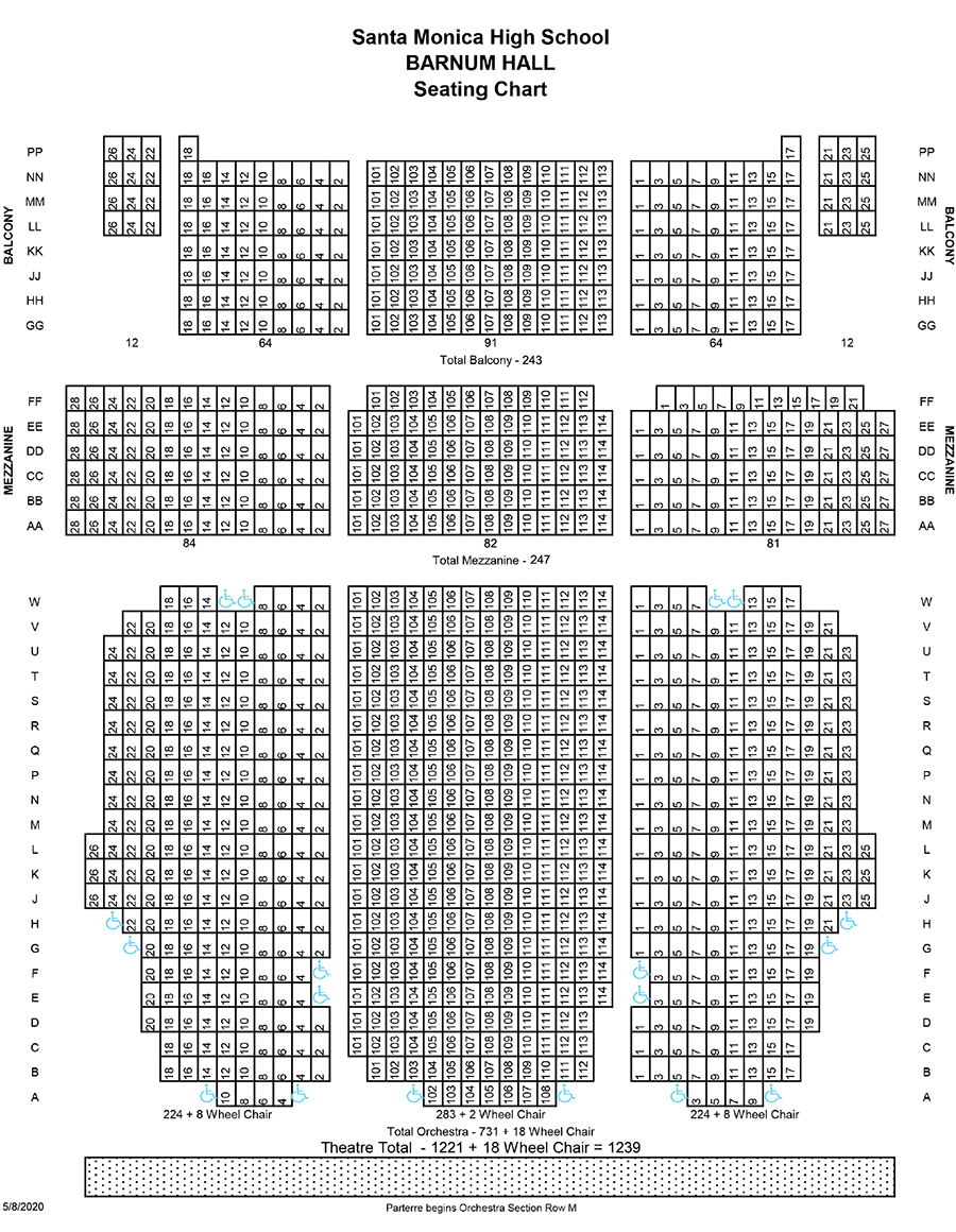 Barnum Hall Seating Chart